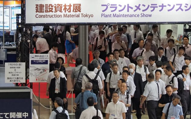来場者が増えている「メンテナンス・レジリエンス」をインテックス大阪で開く(写真は2019年7月、東京ビッグサイト)