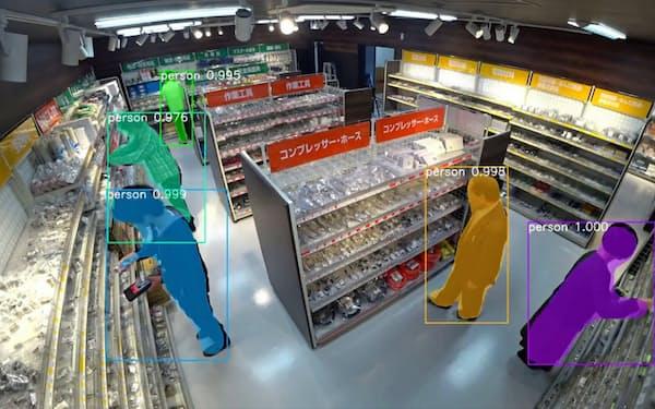 モノタロウと協業し、無人店舗への入退店などの情報をAIで解析する(佐賀市の佐賀大学キャンパス)