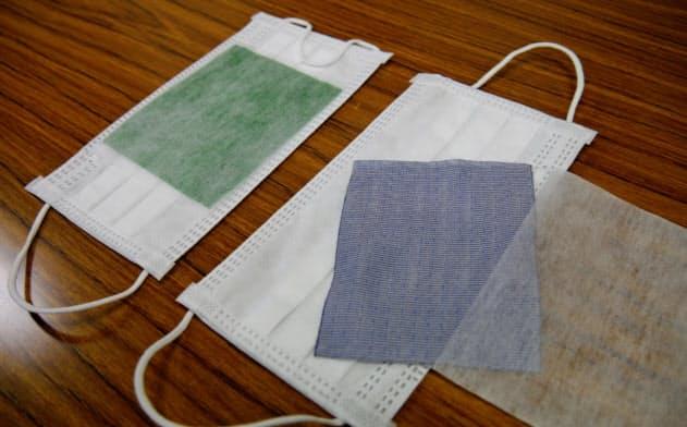 コデラカプロンの抗菌マスク。銅布を専用ポケットに挿入して使う