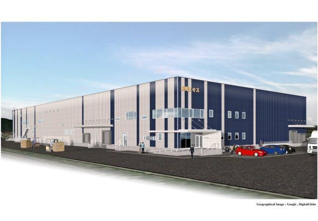 九州エキスが約30億円を投じて新工場を建設する(写真は完成イメージ)