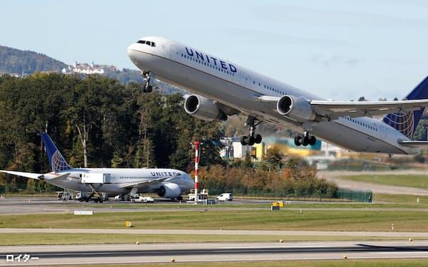 米ユナイテッドは中国行きの便を一部休止する=ロイター