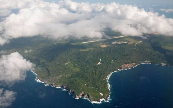 クリスマス島はインド洋に浮かぶ孤島=AAP