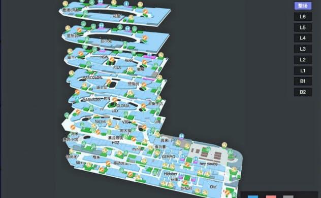 店舗情報や経営データを可視化(蜂鳥視図提供)