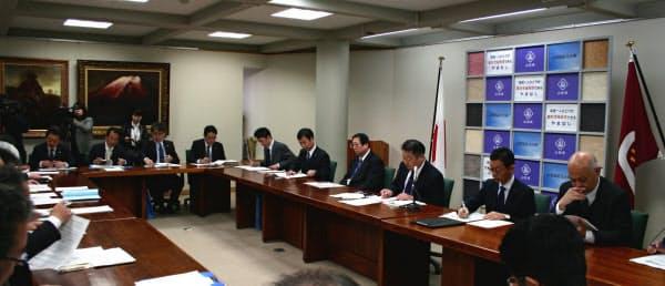 山梨県は「新型コロナウイルス感染症対策会議」を開いた(29日、山梨県庁)