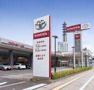 統合後は両社の持つ全店舗が静岡トヨタの運営となる