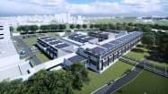 茨城県つくば市に整備する「ゼロエミッション国際共同研究センター」のイメージ図(産業技術総合研究所提供)