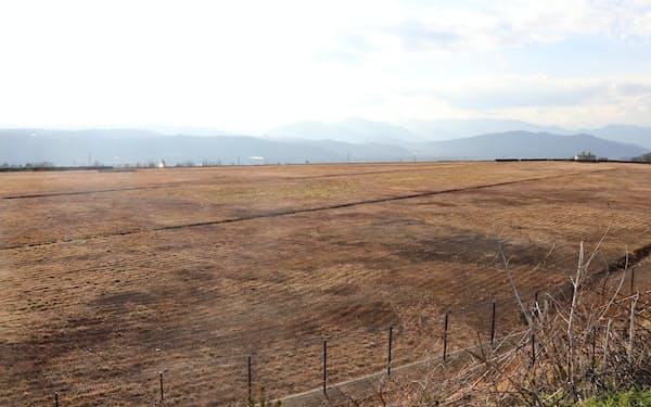 ミマキエンジが研究開発棟の建設を予定する鞍掛工業団地(長野県東御市)