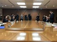 指定都市都道府県調整会議を開いた(宮城県庁)