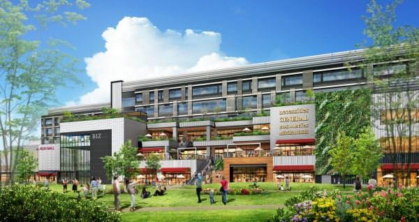 イオンモールは初のオフィス併設型商業施設を計画する