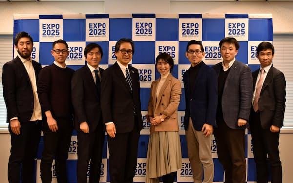 博覧会協会はプロジェクトのパートナーとして7者と連携を結んだ(31日、東京・千代田)