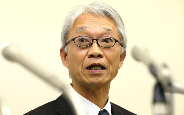 TOTOの次期社長に就く清田副社長(31日、北九州市)