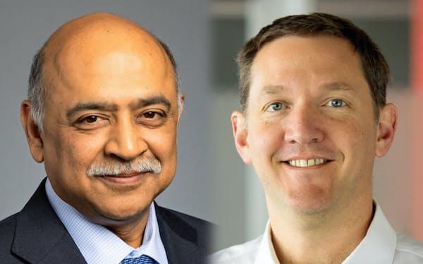 クリシュナ次期CEO(左)とホワイトハースト次期社長