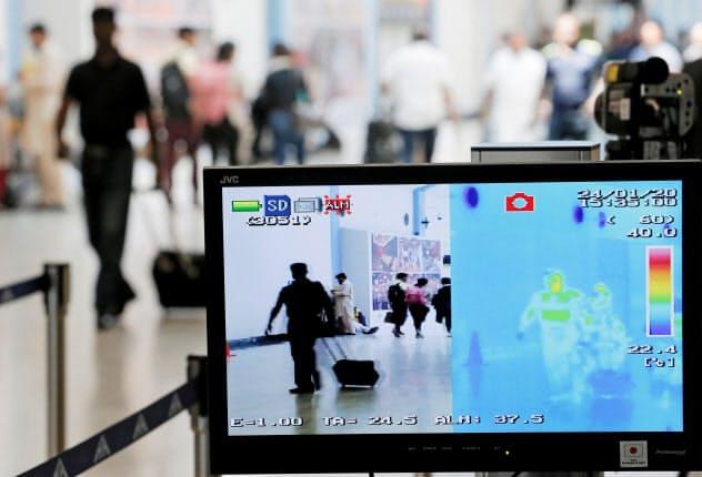 新型肺炎対策でも各国の空港で体温検知システムが使われている=ロイター