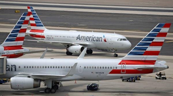 アメリカン航空は3月下旬まで、米中間の全ての直行便を取りやめる=AP