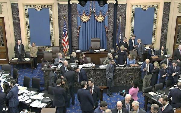 米議会上院の弾劾裁判は新たな証人の招致について与党・共和党の反対多数で否決した=AP