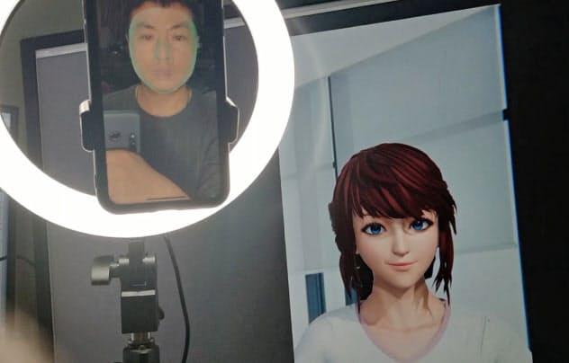 顔認証技術などによって利用者の表情も再現できる(智京未来提供)