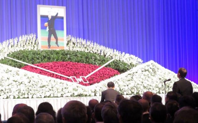 1月21日に東京都内で行われた金田正一さんのお別れの会