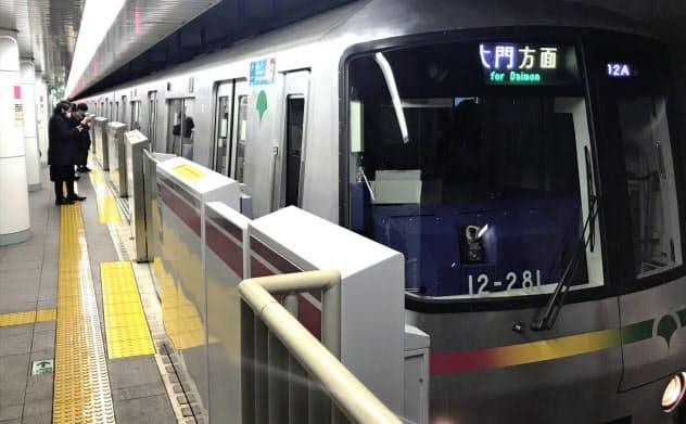 東京都は「国立競技場駅」など、競技が行われる会場周辺の6駅で大会前までに導入する考え(東京都新宿区)