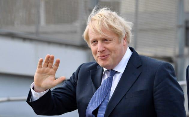 EU離脱を主導したジョンソン英首相(1月31日、イングランド北東部で)=ロイター
