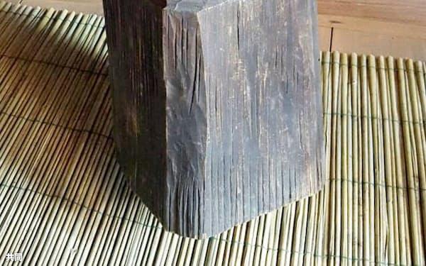 盗難被害に遭った円空作の神像の一つ(岐阜県高山市)=共同