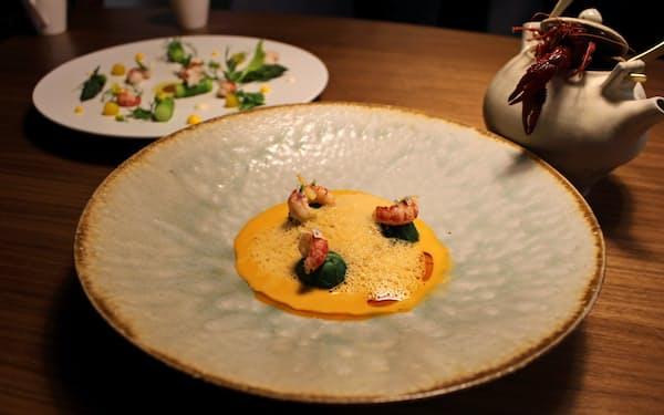 「オトワレストラン」が試作した前菜とスープ