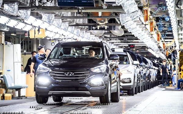 現代自動車は韓国内の工場の稼働を一時中断する=同社提供