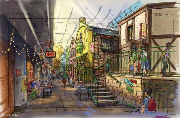 「ジブリパーク」内の「ジブリの大倉庫エリア」のイメージ((C)Studio Ghibli)=共同