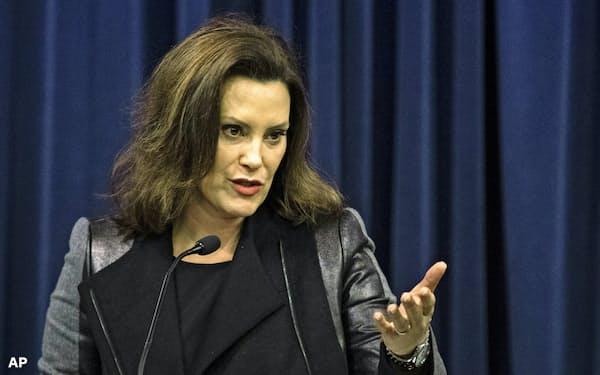米ミシガン州のホイットマー知事は民主党の方針を中西部の有権者に伝えられる人物として反論演説に起用された=AP