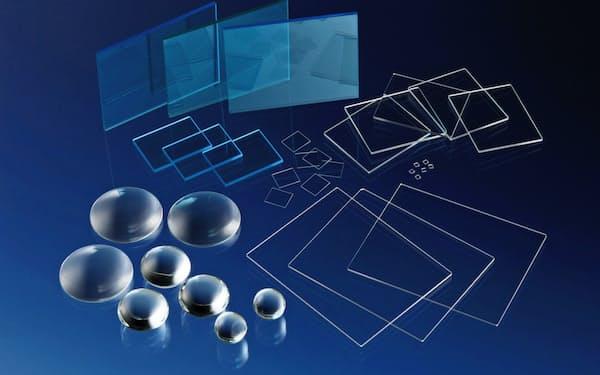 ガラス表面に薄い膜を均一にコーティングする技術が強みだ