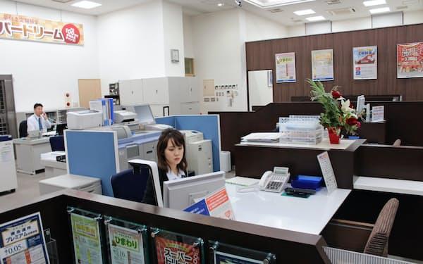 遠軽信金は3月から3時間営業の店舗を導入する(遠軽信金の札幌市内の店舗)