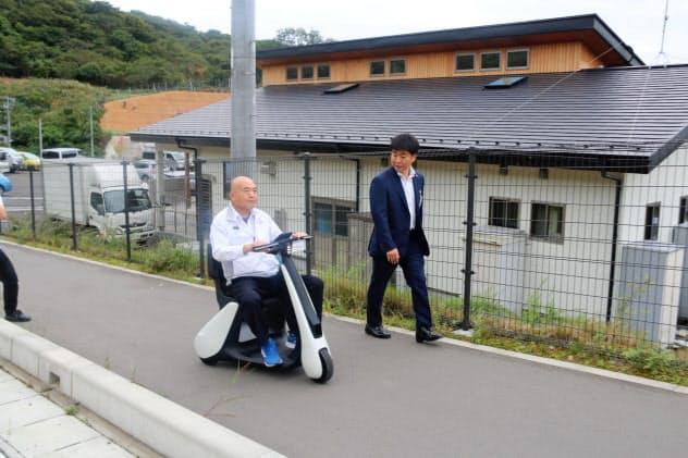 2019年秋に実施されたスマートモビリティーを使った実証実験(宮城県女川町)