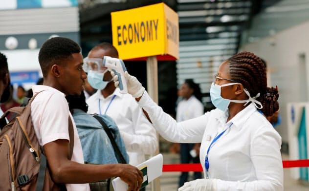 アフリカ大陸でも新型肺炎感染への警戒感が高まっている=ロイター