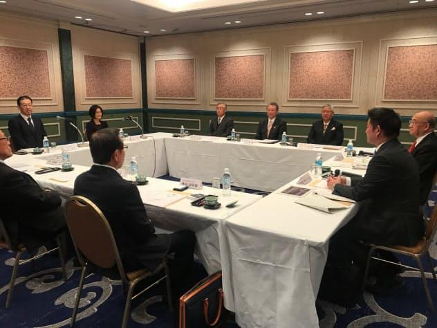 日銀は奈良県金融経済懇談会を開いた(6日、奈良市)