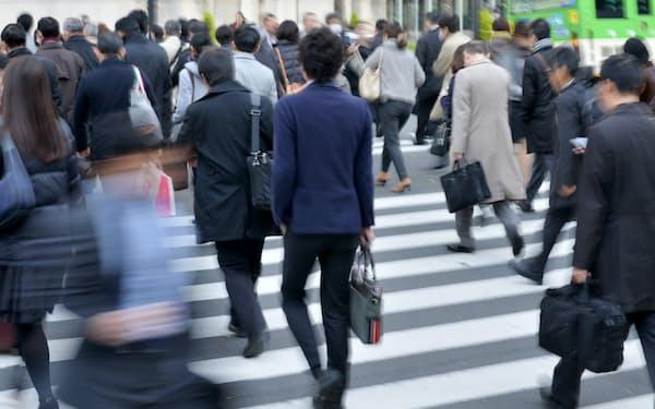 通勤風景(東京・丸の内)