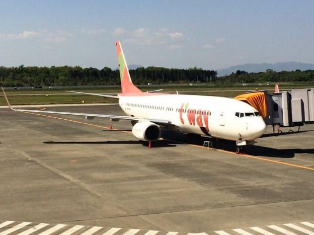 韓国LCCのティーウェイ航空は4月に熊本―ソウル線を再開する
