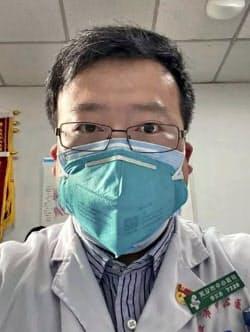自身も新型肺炎に感染し死亡した李文亮氏=共同