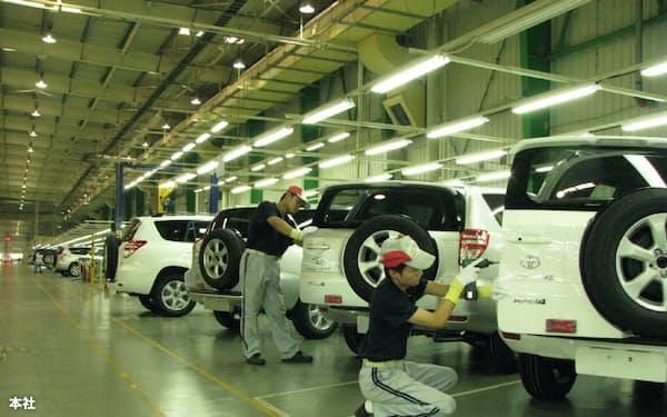 トヨタは17日以降の再開方針だが、グループ部品各社は一足先に生産を再開する