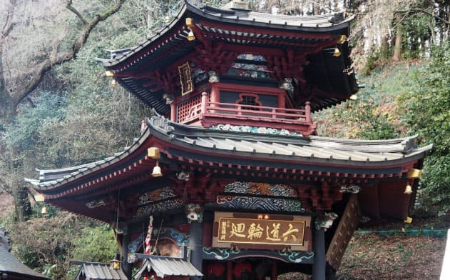 六角堂は群馬県の指定重要文化財に登録されている(群馬県渋川市)