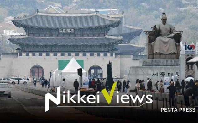 現在のような韓国の格差社会は1997年のアジア通貨危機から始まった(ソウル中心部)=PENTA PRESS