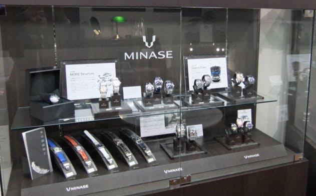 ミナセは秋田の職人技で知名度が向上している(東京都台東区の売り場)