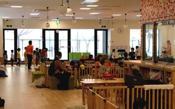 KDDIエボルバのコールセンターは保育園を併設している(札幌市)