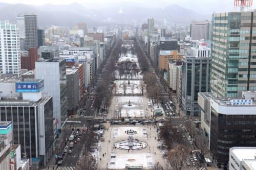 マラソンの開催地は札幌市に移転した(写真はスタート・ゴール地点となる大通公園)