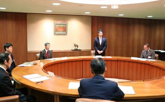 広島県は呉市などと合同で緊急対策本部を立ち上げた(10日、広島市)