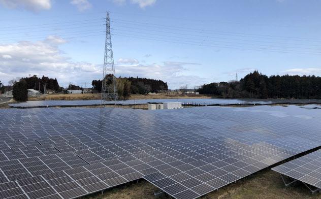 急速に増えた太陽光発電(福島県富岡町)
