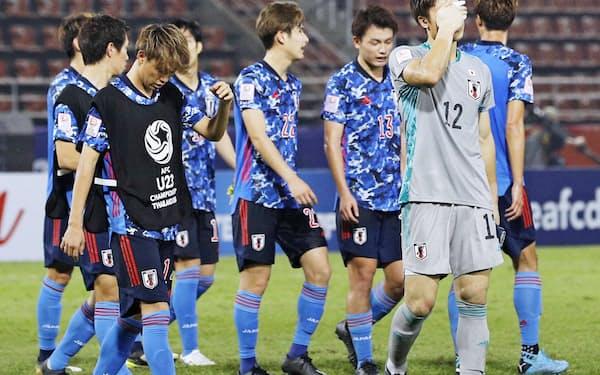 サッカーのU-23アジア選手権で日本は1次リーグ敗退に終わった=共同