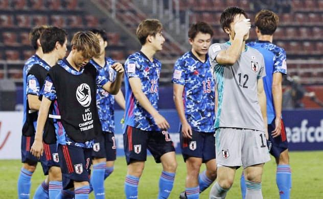 サッカーのU―23アジア選手権で日本は1次リーグ敗退に終わった=共同