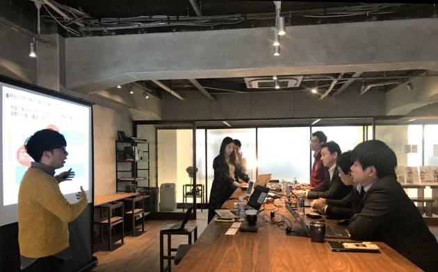 あなぶきグループはスタートアップ企業などを集めた事業計画コンテストを初開催した(高松市)