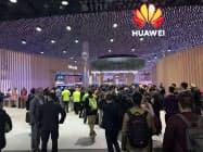 華為技術(ファーウェイ)など多くの中国企業はMWCに出展する予定を変えていない(19年2月のMWC)