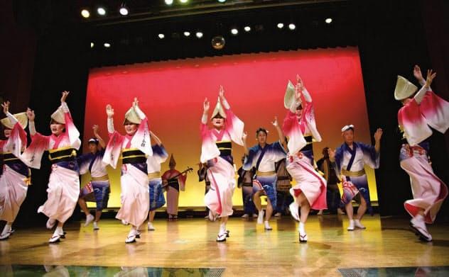 ゴールデンプランには阿波おどり会館(徳島市)での阿波おどり体験も含まれていたが…