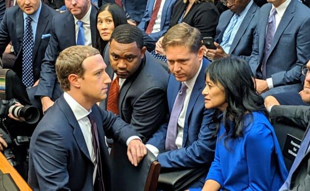 米議会で厳しい追及を受けたマーク・ザッカーバーグ最高経営責任者(CEO)が率いる米フェイスブックなどが調査対象となる(2019年10月、米首都ワシントン)
